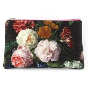 Typisch Hollands Etui - make-up tasje  -De Heem: een bloemstilleven