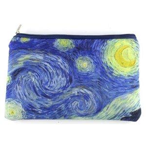 Typisch Hollands Etui - make-up tasje  Vincent van Gogh: de sterrennacht