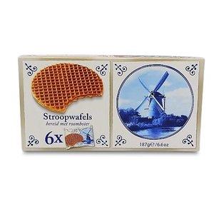 Stroopwafels (Typisch Hollands) Stroopwafels 6x1 Pack 180 grams