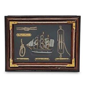 Typisch Hollands Knopenlijst driemaster 20x15cm