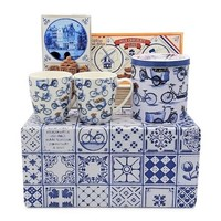 www.typisch-hollands-geschenkpakket.nl Typical Dutch gift package bicycle theme (Delft blue box)