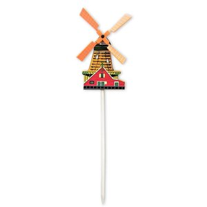 Typisch Hollands Wooden Windmill on stick - Large (Red)