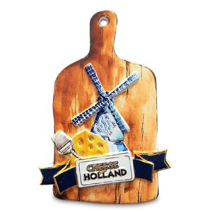 Typisch Hollands Magnet Polystone Cheese Board - Cheese from Holland
