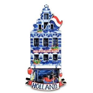 Typisch Hollands Magneet gevelhuisje - Delftsblue shop