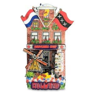 Typisch Hollands Magneet gevelhuisje - Souvenirshop