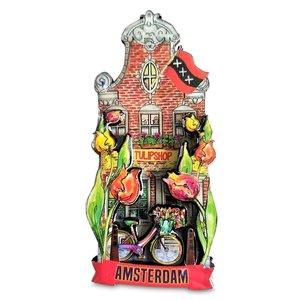 Typisch Hollands Magneet gevelhuisje - Tulpen-Shop