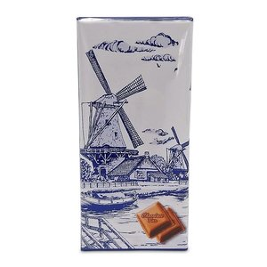 Typisch Hollands Chocoladetablet - Delfts blauw - Molen aan wakerkant