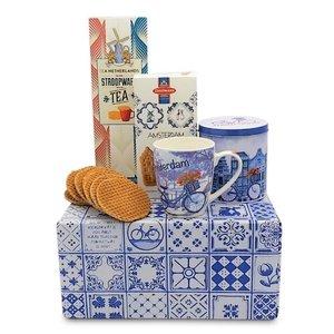 www.typisch-hollands-geschenkpakket.nl Typisches niederländisches Geschenkpaket (Fahrradbecher und Blechdose))