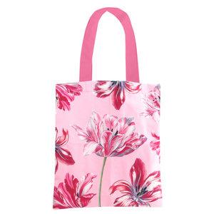 Typisch Hollands Cotton Tote -Pink (Tulpen - Merian)