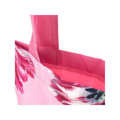 Typisch Hollands Katoenen Draagtas -Roze (Tulpen - Merian)