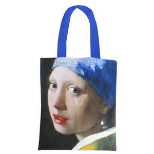 Typisch Hollands Katoenen Draagtas -Vermeer(het Meisje met de parel)