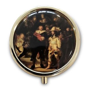 Typisch Hollands Pill box - Gold colored - the Night Watch