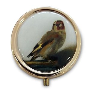 Typisch Hollands Pill box - Gold colored - the Goldfinch