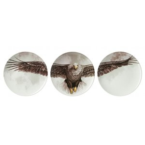 Heinen Delftware Plates with Eagle (set of 3 pieces)