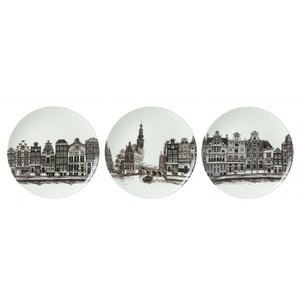 Heinen Delftware Plate compilation Amsterdam (set of 3 pieces)