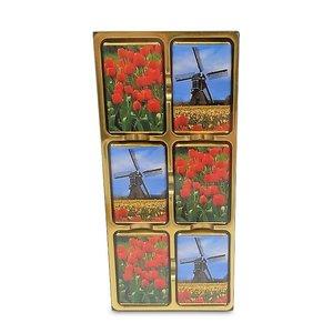 Typisch Hollands Chocolade tegels molens en tulpen