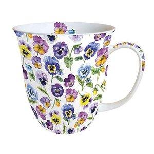 Typisch Hollands Mug - Porcelain - Violets