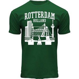 Typisch Hollands T-Shirt Rotterdam - Holland - Groen
