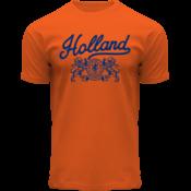 Holland fashion T-Shirt Holland - (lions) - Orange - Copy