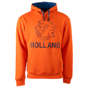 """Holland fashion Orange Holland Hoodie - with 3D """"puffed"""" Lion."""