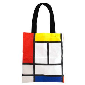 Typisch Hollands Baumwoll-Einkaufstasche - Mondrian