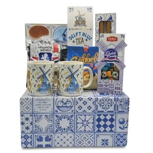 www.typisch-hollands-geschenkpakket.nl Niederländisches Geschenkpaket (in Delfter blauer Box)