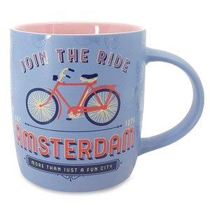Typisch Hollands Grote mok in geschenkdoos - Amsterdam - Pastel - Fiets