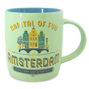Typisch Hollands Large mug in gift box - Amsterdam - Pastel - Facade houses