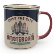 Typisch Hollands Large mug in gift box - Vintage Amsterdam - Houses