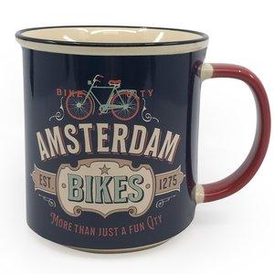 Typisch Hollands Large mug in gift box - Vintage Amsterdam - Bikes
