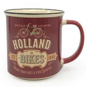 Typisch Hollands Grote mok in geschenkdoos - Vintage Holland bikes red