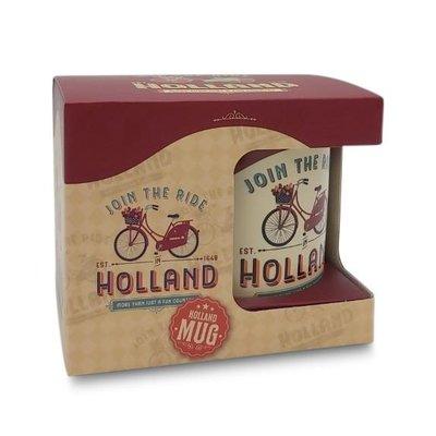 Typisch Hollands Grote mok in geschenkdoos - Vintage Holland join the ride