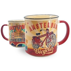Typisch Hollands Großer Becher in Geschenkbox - Vintage Amsterdam gelb