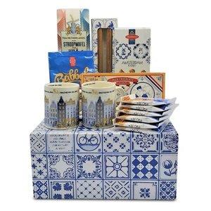 www.typisch-hollands-geschenkpakket.nl Amsterdam Geschenkpaket (in Delfter blauer Box)