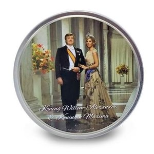 Typisch Hollands Royal family - Candy tin - Round - peppermint - King and Queen