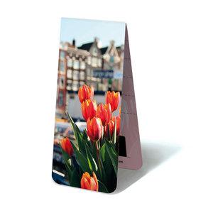 Typisch Hollands Magnetische boekenlegger -Tulpen in Amsterdam