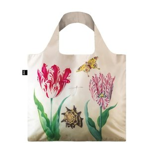 Typisch Hollands Foldable bag - Folding bag, Two tulips, shell and butterfly- Marrel