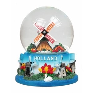 Typisch Hollands Sneeuwbol Holland Molens - Groot 8 cm