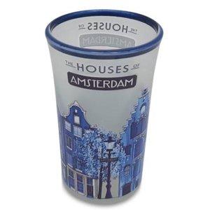 Typisch Hollands Shotglas - Amsterdam Delfts Blauw