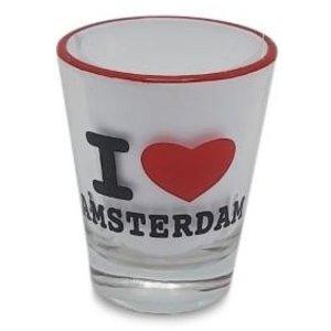 Typisch Hollands Borrelglas - I love Amsterdam