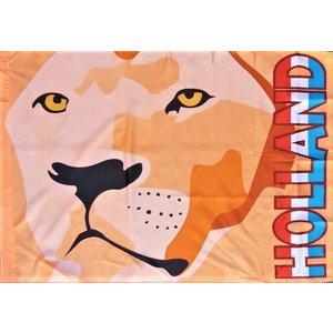 Typisch Hollands Holland oranje vlag met Leeuwekop 100 x 70 cm