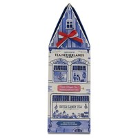 Typisch Hollands Tea in Delft blue gable house - Red pears