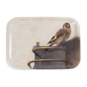 Typisch Hollands Laminate tray large - Fabritius -The goldfinch
