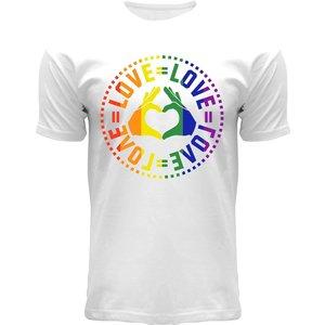 Holland fashion Pride Shirt - Weiß - Love = Love