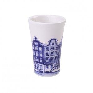 Heinen Delftware Shotglaasje Delfts blauw -Amsterdam