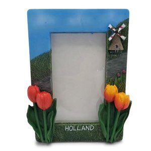 Typisch Hollands Photo frame Holland - Windmill & Tulips