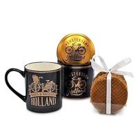 Typisch Hollands Cadeauset Mok en Blik Stroopwafels