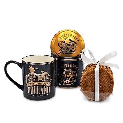 Typisch Hollands Gift set Mug and Tin Stroopwafels