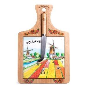Typisch Hollands Cheese board large Tulip field