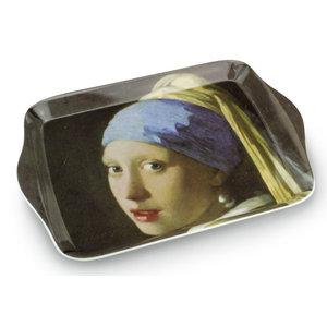 Typisch Hollands Mini-Tablett des Mädchens mit Perlenohrring - Vermeer